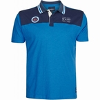 North 56°4 polo contrast schouders, mid blauw