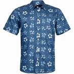 North 56°4 zomers bloemig shirt KM, navy