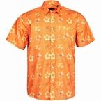 North 56°4 zomers bloemig shirt KM, oranje