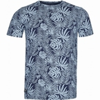 North 56°4 t-shirt Leafs print, navy