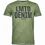 Replika T-shirt 'LMTD Denim', olijfgroen