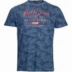 Replika T-shirt 'Goods & Supply', navy print