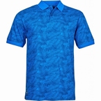 North 56°4 Polo all-over bladeren print, mid blue