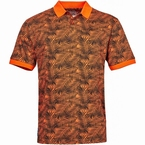 North 56°4 Polo all-over bladeren print, oranje