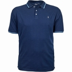North 56°4 sportieve polo piqué met stretch, navy