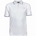 North 56°4 sportieve polo piqué met stretch, wit