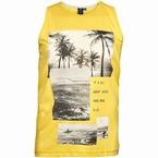 Replika tanktop Beach fotoprint, geel
