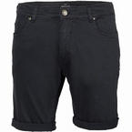 Replika 5-pocket shorts met stretch, zwart