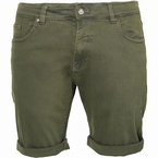 Replika 5-pocket shorts met stretch, olijfgroen