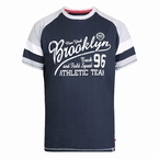D555 T-shirt 'Brooklyn Athletic Team', navy