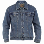 Duke Denim Western jack, stonewash blue