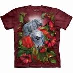 T-shirt Grijze roodstaart papegaaien