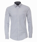 Casa Moda Kent overhemd Casual Fit, wit/blauwe blokjes