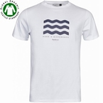 North 56°4 T-shirt 'Waves', wit