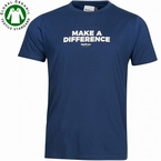 North 56°4 T-shirt 'Make a difference', navy