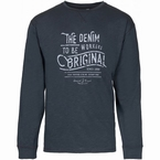 Replika slup yarn T-shirt 'The Denim Workers', zwart
