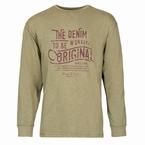 Replika slup yarn T-shirt 'The Denim Workers', olijfgroen