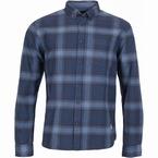 North 56°4 overhemd lange mouw geblokt, blauw