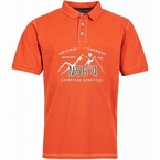 North 56°4 polo m. borduur print N56°4, oud oranje