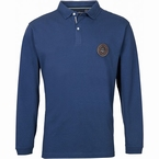 North 56°4 polo m. lange mouw 'Expedition', navy