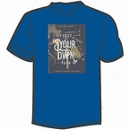 Replika T-shirt m. V-hals 'Forge your own path', navy