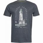 North 56°4 T-shirt print 'Light House', d.grijs