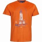 North 56°4 T-shirt print 'Light House', terracotta