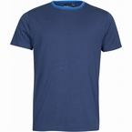 North 56°4 T-shirt print uni m. contrastboord, navy