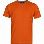 North 56°4 T-shirt print uni m. contrastboord, terracotta