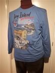 Kitaro t-shirt lange mouw met print, blauw