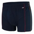 MIKE boxerpant, nachtblauw met zijstreepje
