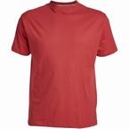 US T-shirt, effen rood