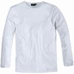 Long sleeve t-shirt, effen wit