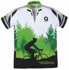 Fietsshirt 'Succes', groen-wit-zwart