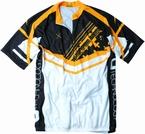 Fietsshirt, wit-geel-zwart
