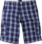 North 56°4  korte shorts, navy geruit