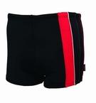 Zwembroek m. pijpjes, zwart-rood