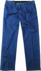 Zomer chino denim m. elastiekboord, jeansblauw