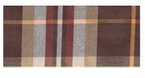 Overhemd lange mouw, bruin geruit - 47/48 (3XL)