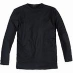 Long sleeve t-shirt, effen zwart