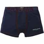 Replika boxershort m. stretch, navy blauw/rood