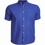 North 56°4 unicolor shirt korte mouw, blauw