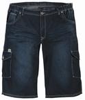 Denim shorts m. elastisch boord, washed blue
