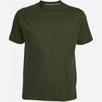 US T-shirt, effen olijfgroen