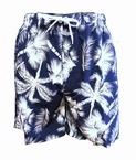 Zwemshort Palm, navy-wit