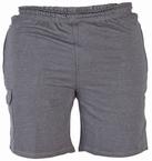 Cargo shorts 'JOHN' met elastisch boord, donkergrijs