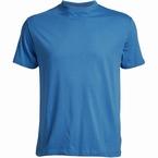 US T-shirt, effen koningsblauw