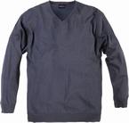 North 56°4 Pullover met V-hals, grijs blauw