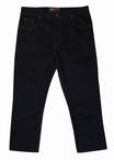 Stretch denim jeans Mistral m. hoge taille, zwart