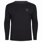 Jersey pyjama shirt m. lange mouw, zwart